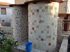 rosoni  rosone mosaico  10x10 misto travertino noce e chiaro prezzo al mq