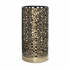 New Brass Tunis Moroccan Style Pad Cut Out Lantern Table Desk Lamp Light Bedside