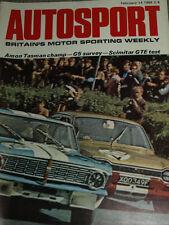 AUTOSPORT 14th FEBBRAIO 1969 * Reliant Scimitar GTE Test & Warwick Farm Tasman *