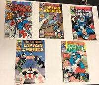 CAPTAIN AMERICA Marvel Comics 372 373 374 377 378  Lot Of 5