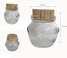 12 tarros dosis única 106 cc a tarjeta de mesa detalle vidrio con tapa corcho