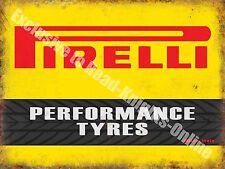 Performance Tyres Motorsport Motor Racing Vintage Garage Medium Metal/Tin Sign