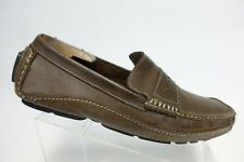 CLARKS Mansell Brown Sz 11 M Men Penny Driving Moccasin Loafers