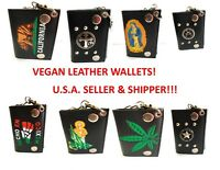 MENS TRIFOLD CHAIN WALLET VEGAN LEATHER