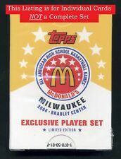 2008 Topps McDonald's High School All American  -  Choose a Player