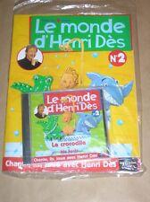 RARE CD + MAGAZINE / LE MONDE D'HENRI DES N° 2 / LE CROCODILE / NEUF SOUS CELLO
