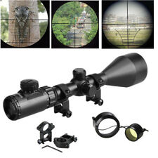 3-9X56 Rifle Scope Tactical Red Green Air Rifle Sniper Scope Hunting +20mm Mount