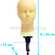 Skin Colour Make-Up Practice Mannequin Head Wig Holder Hat Display With Clip
