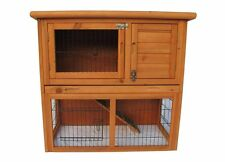 2 Storey wood Hen Chicken Hutch Cage House Coop Cage Water Resistant w/ TRAY
