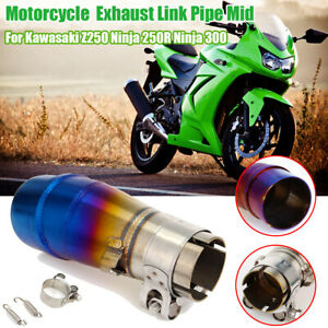 Motorrad Connect Auspuff Link Rohr Mittel für Kawasaki Z250 Ninja 250R Ninja