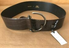 Brand New With Tags - Ladies Wide Leather Belt With Oversize Buckle Feature