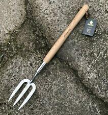 Kent & Stowe Stainless Steel Mid Handled Fork - Border Hand Fork - Garden, Tool