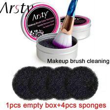 Cepillo Limpiador De Maquillaje 4 Esponjas Removedor Color Lavado Sombra De Ojos