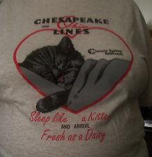C & O Sleep like a Kitten T Shirt XXL or XXXL