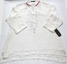 "Ladies Casual Hand Embroidered Top UK Size Large Chest 44"" Length 28"""