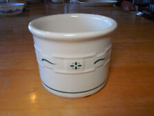 """Longaberger Usa Woven Traditions Heritage Green Crock 4 1/2"""" 16 oz 3 available"""