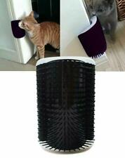 Cat Self Groomer Wall Corner Massage Pet Self Grooming Brush with Catnip Pouch