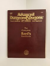 The Complete Bard's Handbook, Advanced Dungeons & Dragons 2nd Ed. (AD&D), RPG