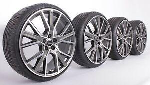 Audi S4 A4 B8 8K B9 A6 4G C8 SQ5 Q5 8R FY SQ2 Q3 Daytonagrau 19 Zoll Felgen WH34