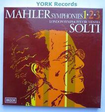 7BB 173/173 - MAHLER - Symphonies 1 2 & 3 SOLTI LSO - Ex Con 5 LP Record Box Set