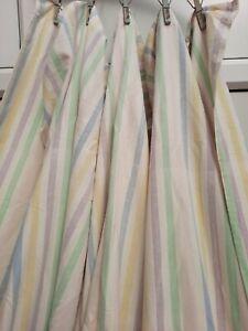 Vintage rainbow stripe double size flat sheet bedding Retro 229cm x 223.5cm