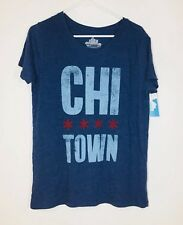 New Women's L Chicago Chi Town T-shirt Blue Nwt