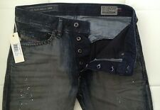 NWT - $328 DIESEL 0819E Braddom Slim-Carrot Jeans  (Size-29X32 / Made in Italy)