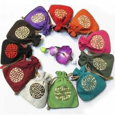 Wholesale10pcs Chinese HandMade Embroiderd Flax Jewelry Pouches/Purse Gift Bag