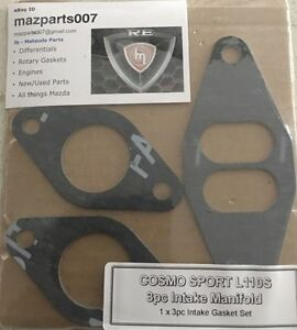 MAZDA ROTARY COSMO SPORT 110S 3 PIECE ENGINE INLET MANIFOLD GASKET