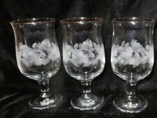 3 Libbey Holiday Accents Pinecone 12-oz. Wine / Drinking Glasses - Christmas
