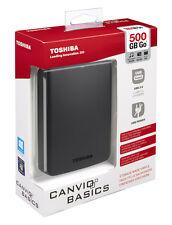 "500GB 2,5"" TOSHIBA Basics externe Festplatte SATA PC USB 3.0 / 2.0 2,5 Zoll HDD"
