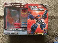 Transformers Universe 25th Anniversary G1 Series Optimus Prime New NIB Comic&DVD