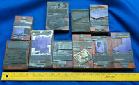 10 Antique Letterpress LOT Block Printer Advertising Cameo Leather VTG Wood #18