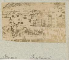 Norvège, Bergen, vue générale sur les quais  vintage albumen print,Photos prov