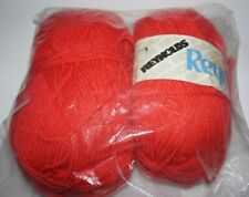 """New listing 2 Skeins, Reynolds, """"Deluxe Reynelle"""", Red, 100% Courtelle Acrylic Yarn"""