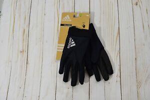 Unisex Adidas Black Running Gloves Cold Dry L/XL NWT - AW0085