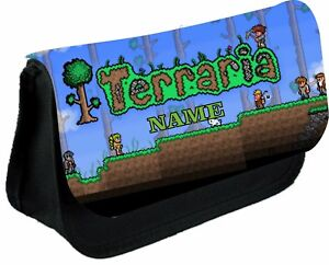 TERRARIA #2 Personalised Pencil Case, make up bag, school any name