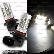 1x Pair Subaru Toyota Acura BMW 9006 HB4 50 Watt 10 LED White Projector Bulbs