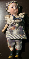 """Antique Bisque Head Doll, 8"""", Marked """"Germany Gebruder Heubach D 03 14""""  1 Owner"""