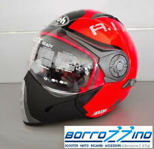 CASCO AIROH J 106 SMOKE ORANGE GLOSS - ARANCIO LUCIDO TG. S