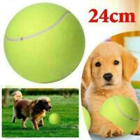 """9.5"""" Giant Tennis Ball Pet Toy Dog Puppy Cat Chucker Thrower Toy Play X4H5"""