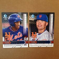 Amed Rosario Brandon Nimmo Mets RC #ed/49 made 2016 Bowman Chrome 5x7 Turn Two