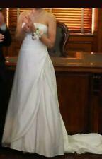 Ivory Satin Wedding Dress Gown Sz 6-8
