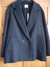 John Lewis KIN  Boxy Short Grey Wool Mix Coat  SZ 18 BNWT RRP £139