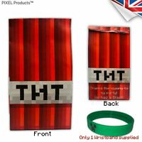 One Minecraft Wristband with Party Bags (12 Pack) Party bag Fillers favours Loot