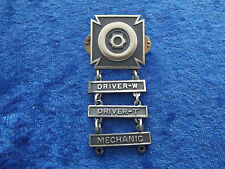 ^ (a28-27) US Driver and Mechaniker Badge 3 niveaux W/T/Mech