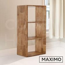 Solid Oak Shelf Storage Box Shelves Display Shelving Unit | 3 Cube