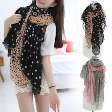 Womens Beautiful Chiffon Dot Print Soft Design Scarf/shawls/wrap Scarves Stole