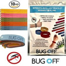 BUG OFF Mosquito Repellent Wristband 10-PACK Family Bundle ~SAFE FOR KIDS/BABIES
