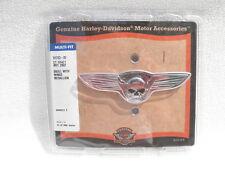 Harley willie g skull battery backrest medallion softail dyna fatboy  91723-02
